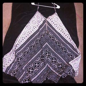 Shark tail scarf dress